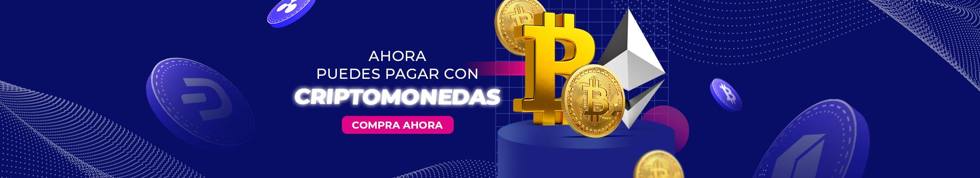 Paga tu compra con Bitcoin o criptomonedas
