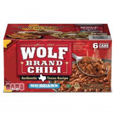 """Chile Wolf Brand """"Sin frijoles..."""